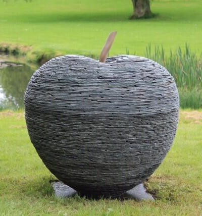 Vermont Apple Sculpture Made of Slate