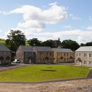 New build houses in traditional style with slate roof