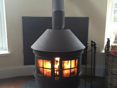 Honed Slate Hearth Graphite