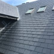 Slate roofing going onto a new construction project