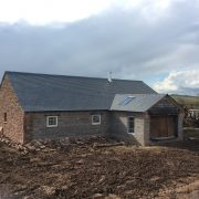 Conversion in progress with slate roof