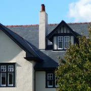 Slate roofing on traditional style home
