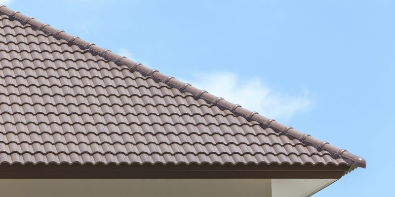 Ridge Tiles on the Roof of a Building