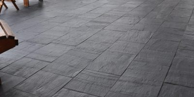 Slate flooring offering the ultimate design in this relaxing room