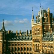 St Pancras Chambers London with beautiful Westmorland Green slate roof