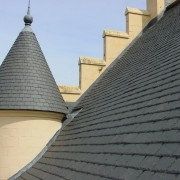 Slate roof on Stirling CAstle