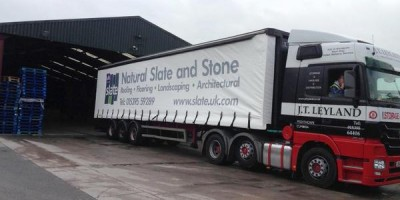 One of our UK Slate lorries