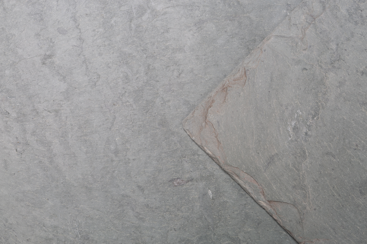 Unfading green Vermont slate close up