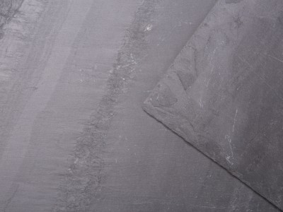 Close up of dark grey blue Welsh slate