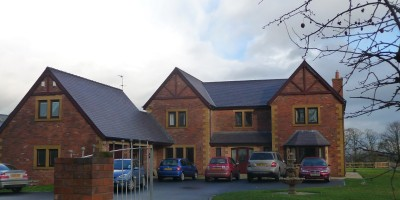 Building with Welsh Heather Blue slate