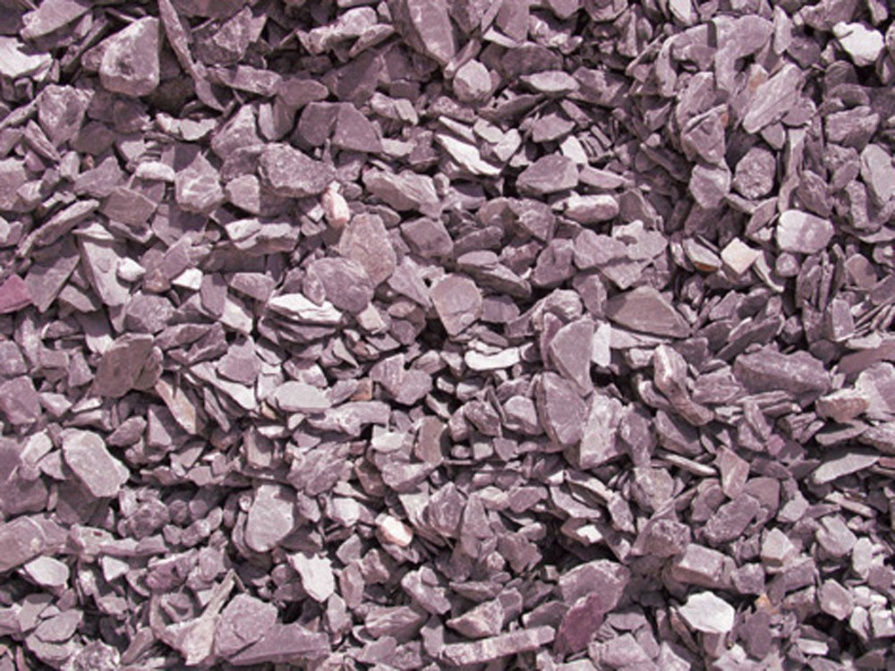 plum slate decorative aggregates for landscaping, gardening and more