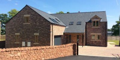 Slate roofing in situ at a countryside home